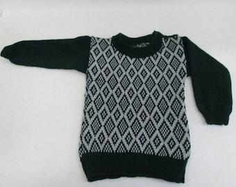 Cool Boys Sweater Green Grey