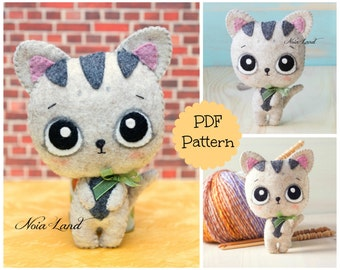 PDF Pattern. Cute baby cat.