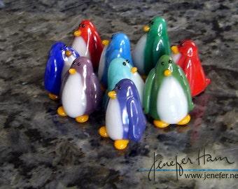 PENGUIN! Sculpture/ Miniature/ Cake Topper / Wedding Gift / Player Marker by Jenefer Ham Board Game Glass
