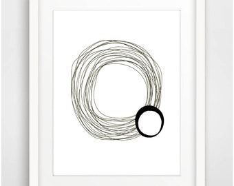 Scandinavian Poster Printable Art Minimalist Poster Black White Print Abstract Wall Art Modern Art Print Home Decor Instant Download