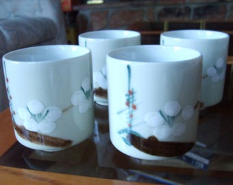 Japanese Tea Cups Cherry Blossom Design (set of 4)