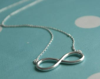 Sterling Silver Infinity Necklace - Silver Infinity Jewellery - Eternity Necklace Silver - Delicate infinity pendant - Infinity silver