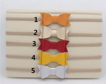 Faux Leather Bow Baby Headbands