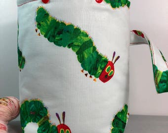 Hungry Caterpillar Knitting Crochet Project Bag - Snap GoGo