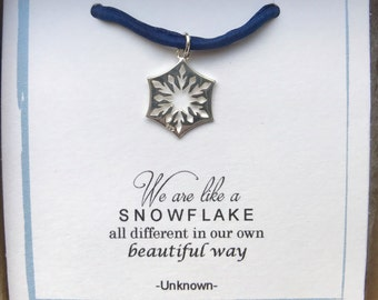 We are like snowflakes ...sterling silver ready to wear gift -winter-love-