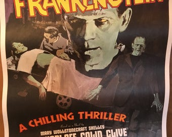 Poster  Frankenstein from the 1970's.