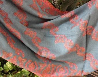 Gray Merino Wool Stole