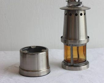Vintage lighthouse lighter and ashtray