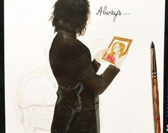 Original illustration - Severus Snape