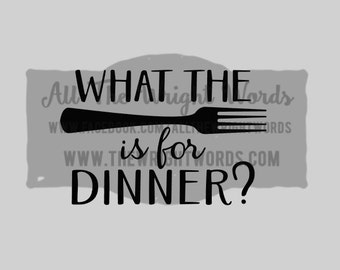 "FREE SHIPPING //  6x4"" What The Fork Is For Dinner? Vinyl Decal - Pressure Cooker, IP. Decal, Cooking, Home, Kitchen, Stickers, Insta Pot"