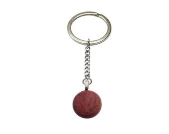 Pink Rhodonite Gemstone Keychain