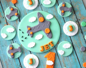 how to make a fondant airplane topper