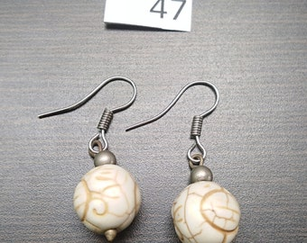 White Turquoise Stone Earrings