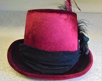 Burgundy Costume Prom Party Hat