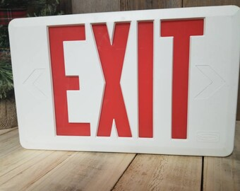 Vintage Exit Sign, Exit Sign, Lighted Exit Sign, Industrial, Sign, Industrial Exit Sign,  Emergency Sign