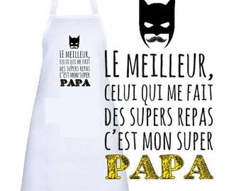 """""""SUPER DAD"""" ADULT APRON"""