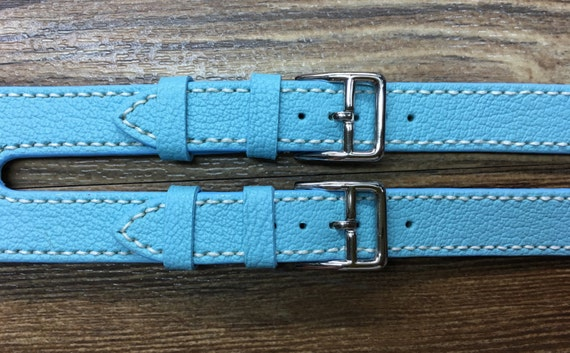 Apple Watch Band | Apple Watch Strap | Double Buckle Cuff Watch Band | Turquoise leather For Apple Watch 38mm & 42mm | Series 1 and 2