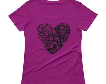 Heart Tshirt - Heart Tee - Heart T shirt - Womens T Shirt - Graphic Tee - Ladies Top - Heart T Shirt