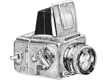 Vintage Hasselblad Camera A3 Print