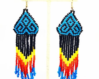 Gorgeous long Native American earrings