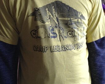 Vintage hipster Camp Lebannon tshirt size large free domestic shipping