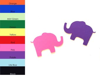 25 Pack - Paper Elephant Shape, Elephant Die Cut, Elephant Cut Outs, Paper Party Supplies, Paper Scrapbook Supplies