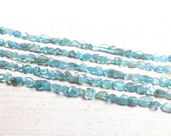 5 nugget beads / natural blue apatite nugget approximately 5 x 10mm to 4 x 9mm LBP00702