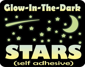 Glow in the Dark Stars, Stars for Ceiling, Glow Stars, Glowing Stars, Star Decals, Glow Stickers, Ceiling Stars, Kids Room wall decor