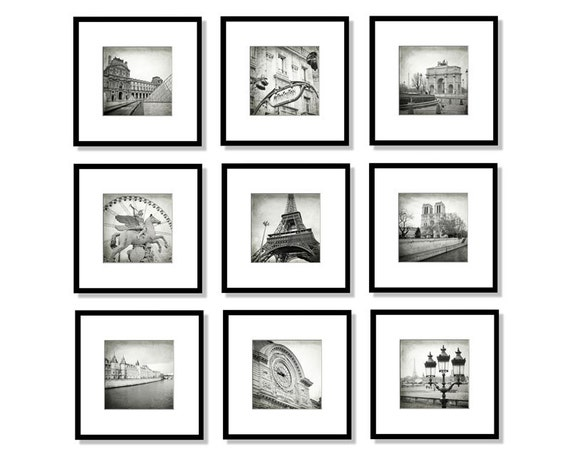 Set Of Black And White Prints