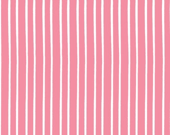 "Clothworks, From Ellen Crimi-Trent, ""Marguerite"" Pink and white stripes, yard"