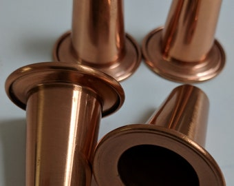 Copper cup shaped things, 4 pieces