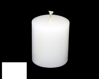 3 x 3.5 White Classic Hand-poured Unscented Pillar Candles Solid Color