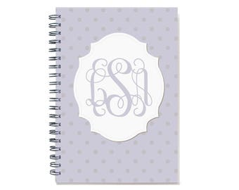 2018 Monthly Planner  Book, 2018-2019 Monogram Calendar, 12 or 24 Month Planner, Start Any Time, 2 Year Monthly Planner, SKU: pn dot m