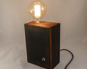 Lampe Design En Beton Ampoule Vintage A Filament