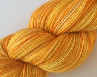 Sunshine - hand dyed yarn 3.5 oz 437 yds