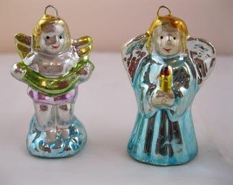 PAIR of Angel Christmas Ornaments