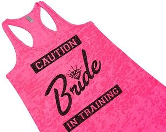 Bride Shirt. Pink Bridal Tank Top. Bridal Party Tank Top. Bride To Be Gift. Bride-in-Training Tank. Bride Tank Top. Bridal Shower Gift.