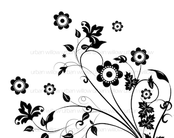 FLORAL OVERLAY - Commercial and personal use
