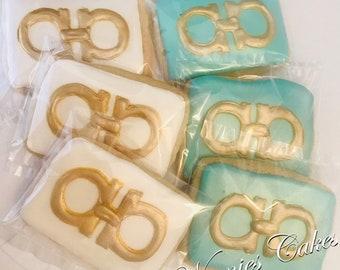 Designer Belt/ Ferragamo Inspired/Sugar Cookies