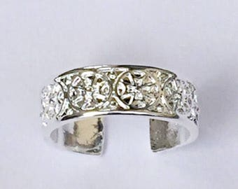 Celtic Cross Toe Ring Or Finger Ring