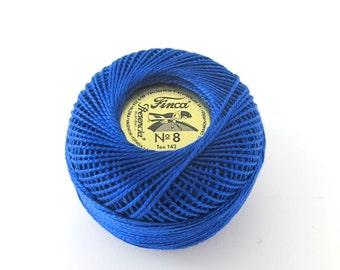 Royal Blue Finca Perle Cotton Thread