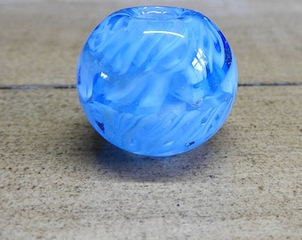 Aqua Twist - big hole bead