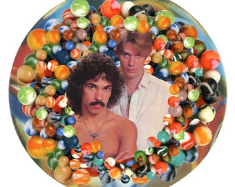 Hall and Oates Mixed Media Marble Digital Collage