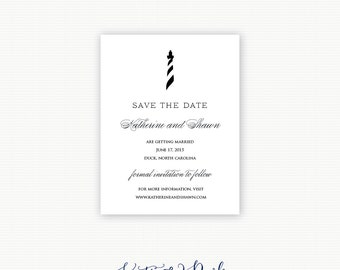 Lighthouse Save the Dates, Nautical Save the Dates, Coastal Save the Date, Beach Save the Date, Nautical Wedding Save the Date Cards