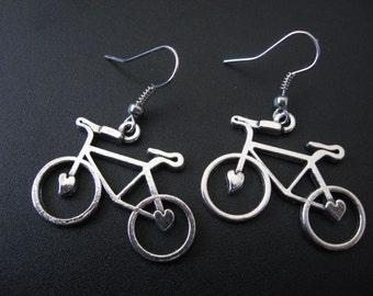 Bike Jewelry, Bike Earrings, Athletic Jewelry, Athletic Earrings, Exercise Jewelry, Exercise Earrings