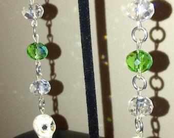 Swarovski Crystal Skull Dangle Earrings