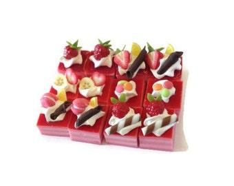 Set Miniature Cake Slice 12 pcs - SMCS014