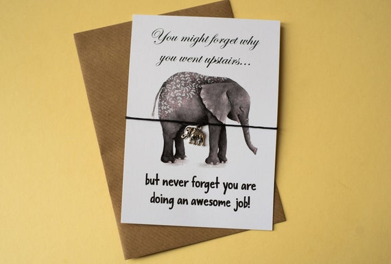 Wish Bracelet - You are doing an awesome job Elephant Funny DD076 jtpWl5sb