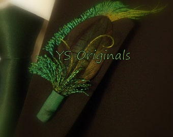 50% off sale Ready to Ship! The Green Scarab Boutonniere