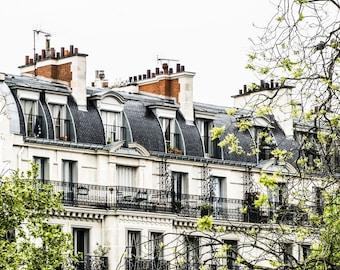 Paris Rooftops - Paris Photography - Wall Art Print - Paris Decor - Architecture - Fine Art Photography  - Montmarte Rooftops - 0004